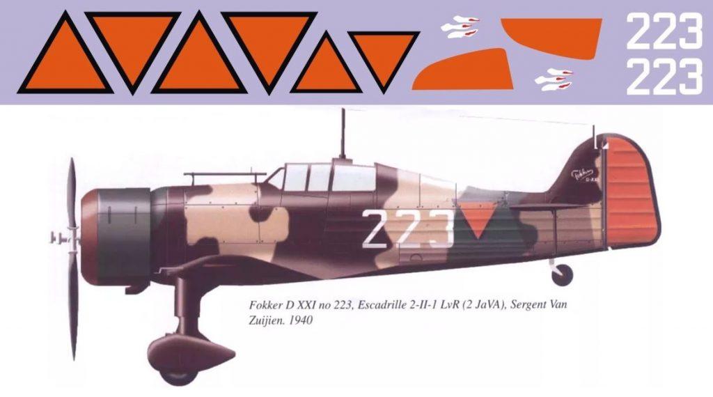 Декаль Fokker D XXI
