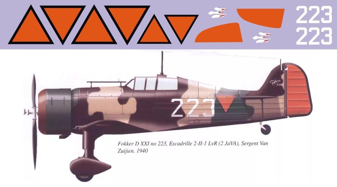 Декаль Fokker D.XXI (F223)-223 Image