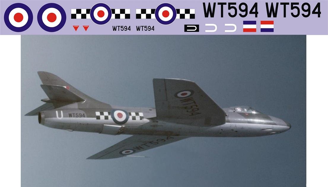 "Декаль Hawker ""Hunter"" F.1 (F320)-WT594 Image"