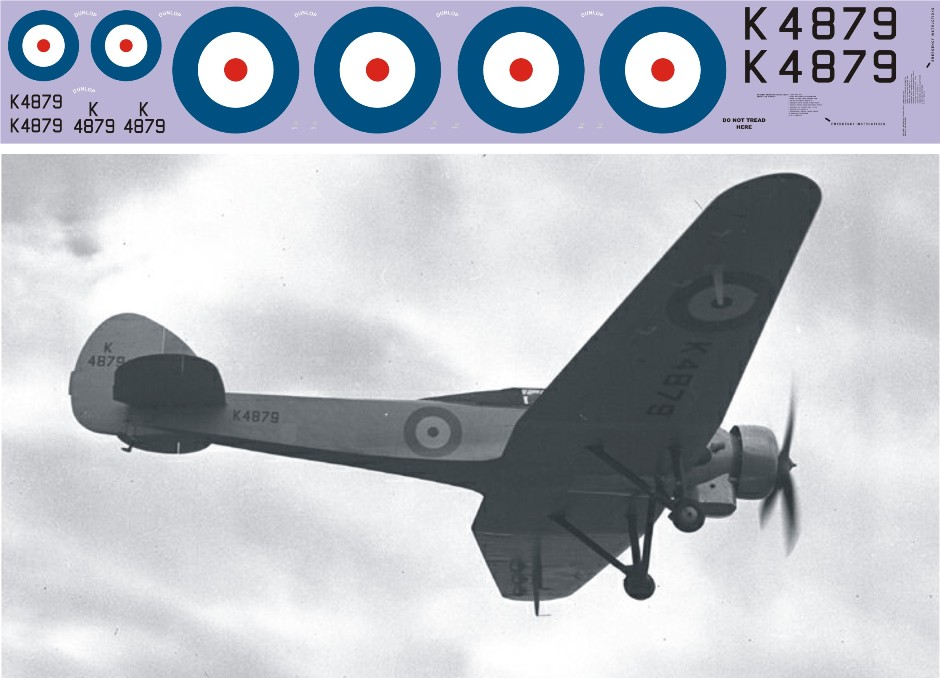 Декаль Bristol 138A (F165) Image