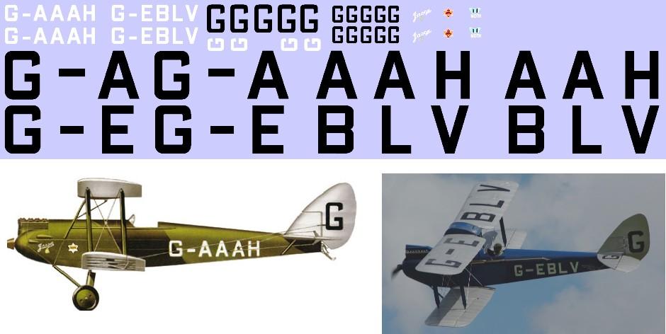 Декаль DH.60G Gipsy Moth (F169) Image