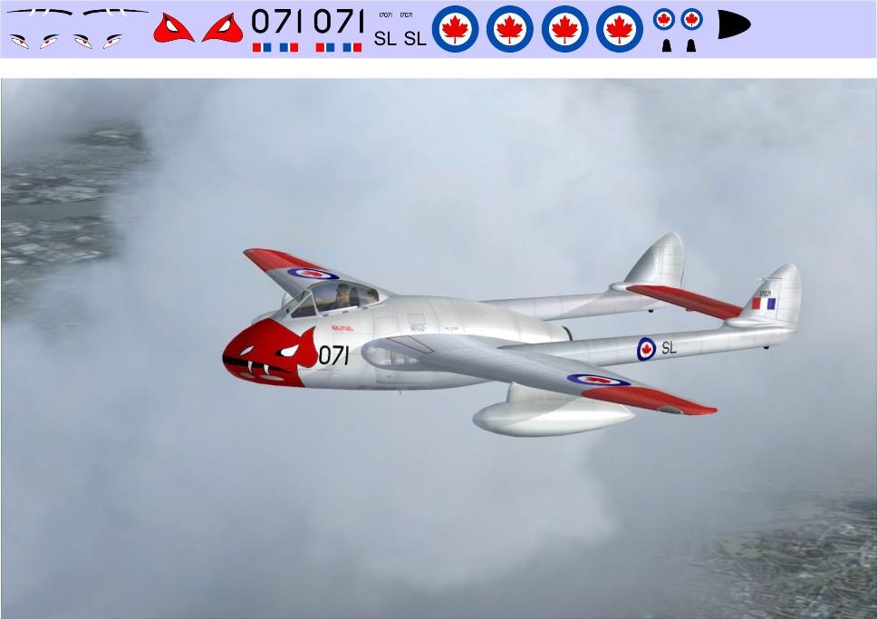 Декаль DH-100 Vampire (F217) Image