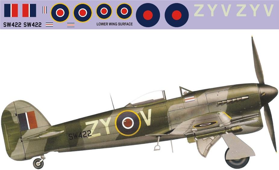"Декаль Hawker ""Typhoon"" Mk.Ib (F389) Image"