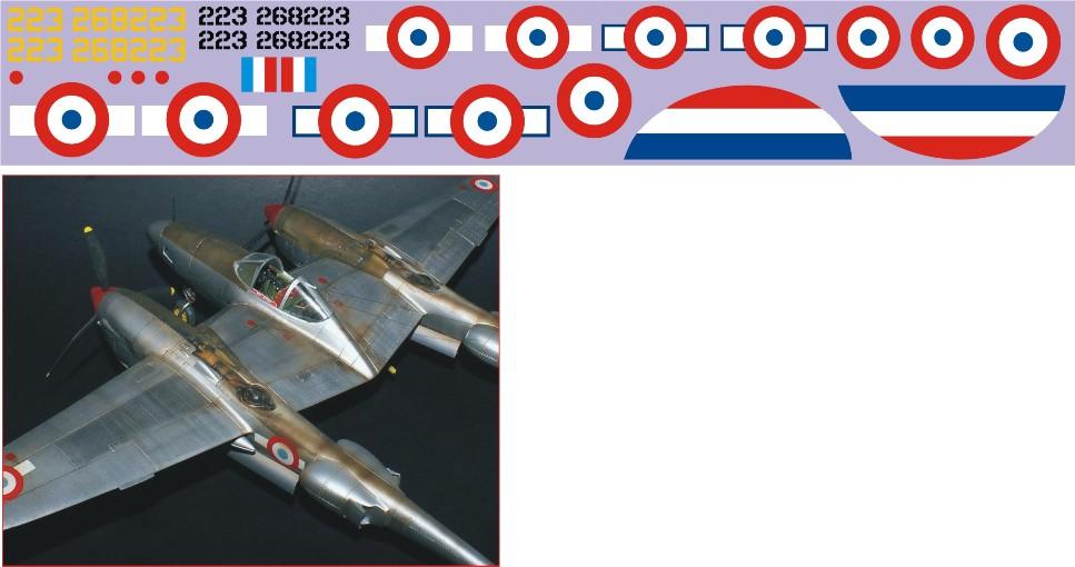 """Декаль Lockheed P-38 """"Lightning"""" (F182) - 223 Image"""