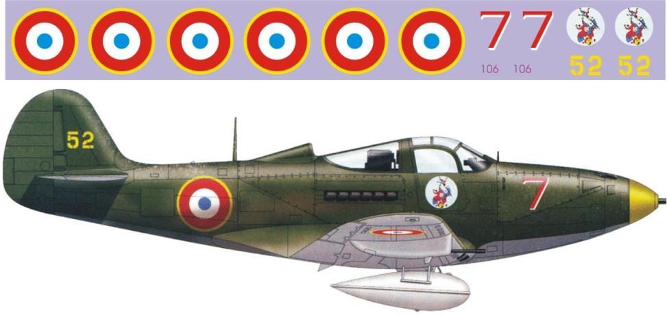 """Декаль Bell P-39 """"Aircobra"""" (F415)-Fra Image"""