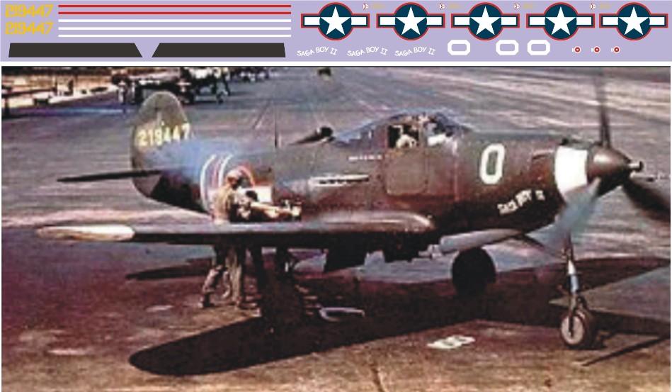 "Декаль Bell P-39 ""Aircobra"" (F415)-Saga Image"