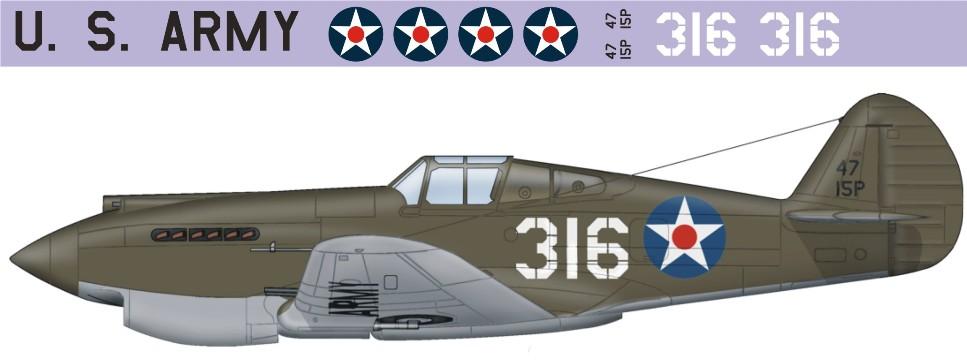"Декаль Bell P-40 ""Tomahawk"" (F197)-316 Image"