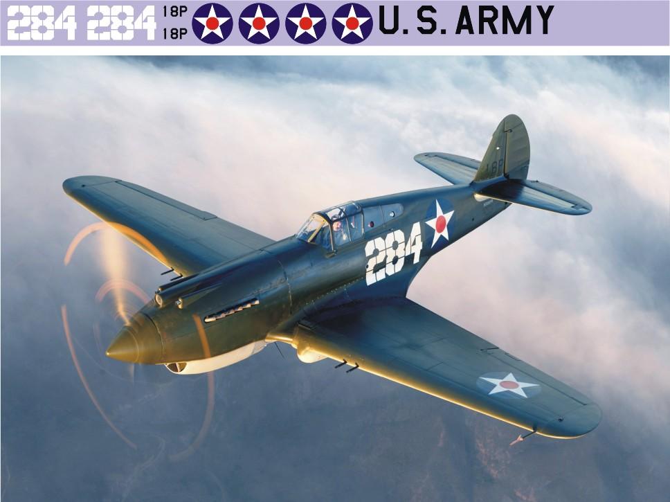 "Декаль Bell P-40 ""Tomahawk"" (F197)-284 Image"