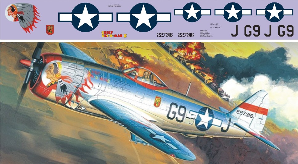"Декаль Republic P-47D ""Thunderbolt"" (F183)-G9 Image"