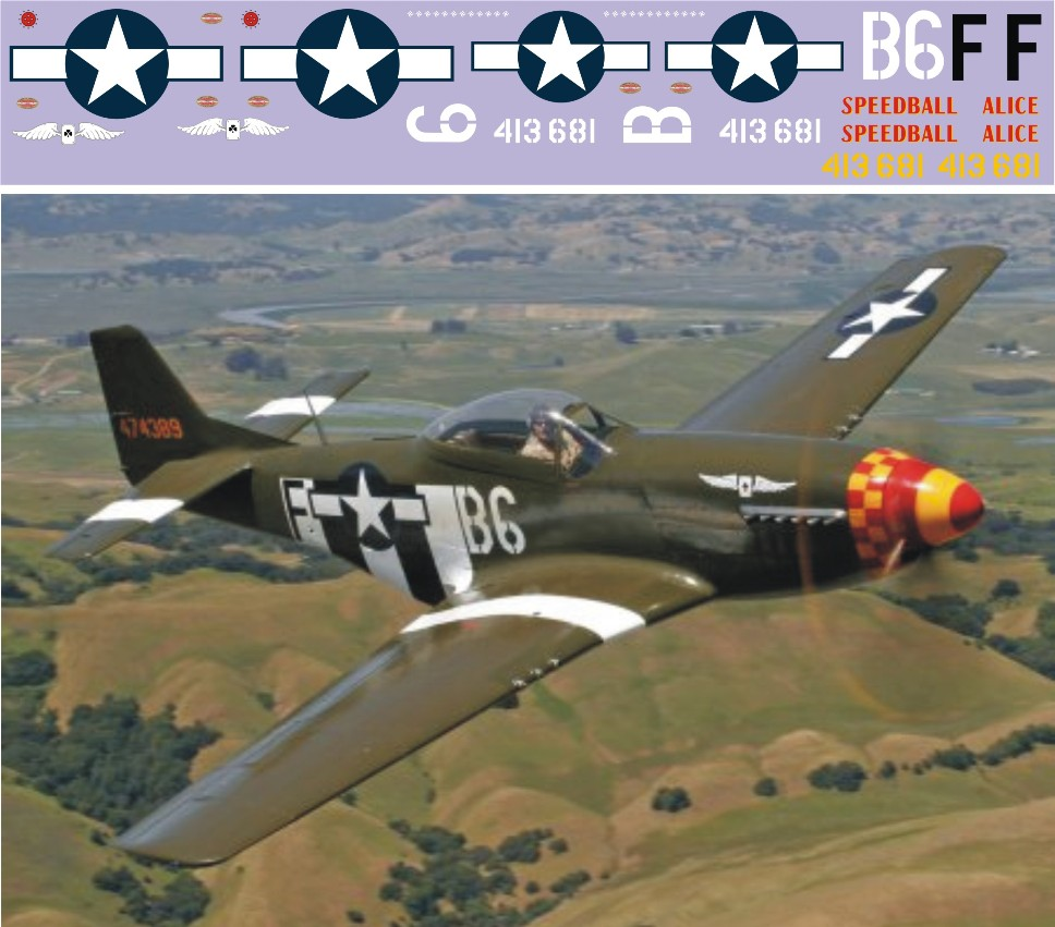 "Декаль North-American P-51B ""Mustang"" (F183)-Speed Image"