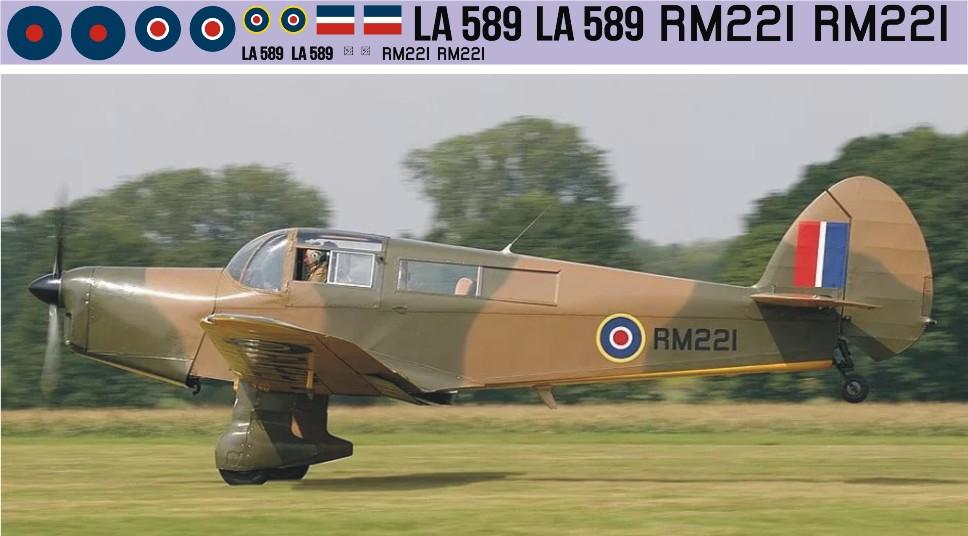 "Декаль Percival ""Proctor"" (F341)-RAF Image"