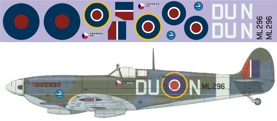 """Декаль Supermarine """"Spitfire"""" Mk.IX-FL296 Image"""