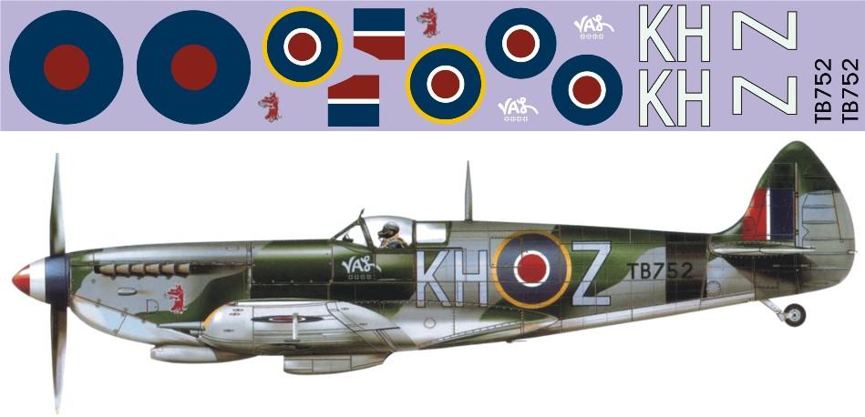 "Декаль Supermarine ""Spitfire"" Mk.XVI-TB752 Image"