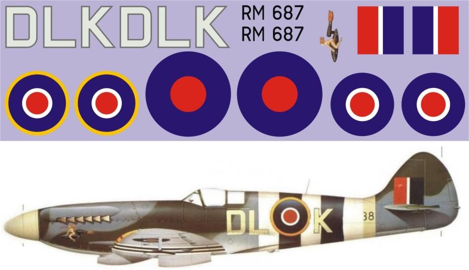 """Декаль Декаль """"Spitfire"""" Mk.XIV-RM487 Image"""