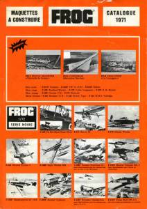 Catalogue FROG 1971. French issue. Page 1
