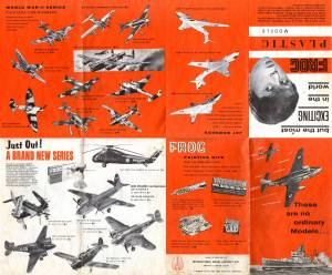 Catalogue FROG 1963. British issue. Side 1