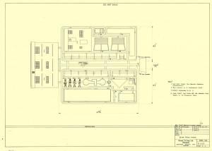Airfield Control Tower - сканированный лист оригинального чертежа модели FROG (проект 1972 г.)