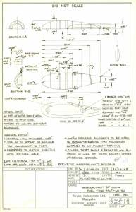 Messerschmitt Bf.110G-4 - оригинальный чертеж модели FROG