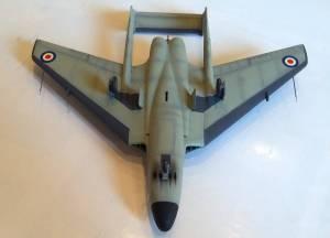 De Havilland DH.110, вид снизу (промежуточная стадии сборки) - автор модели С.Васюткин