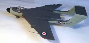 De Havilland DH.110, вид сбоку - автор модели С.Васюткин