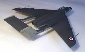 De Havilland DH.110, вид сзади сбоку - автор модели С.Васюткин