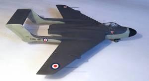 De Havilland DH.110, вид спереди сбоку - автор модели С.Васюткин