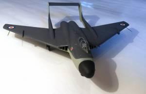 De Havilland DH.110, вид спереди - автор модели С.Васюткин