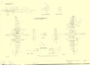 Heinkel He-219 - оригинальный чертеж модели FROG