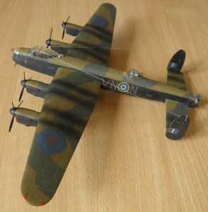 "Avro ""Lancaster"" B.Mk.I (F359) - масштаб 1:96, автор модели С.Васюткин"