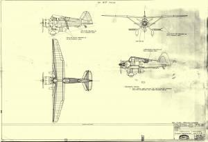 """Westland """"Lysander"""" Mk.I\Mk.III - оригинальный чертеж модели FROG"""