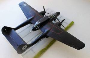"Northrop P-61A ""Black Widow"", 38257, ""Monnie"", USAAF - автор модели С.Васюткин"