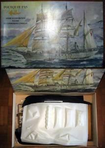 """""""Pourquoi Pas? Navire d exploration polaire du comandant Charcot"""" (L950) - коробка фирмы """"Heller"""", масштаб 1/100, 1969 г."""