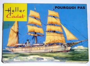"""Pourcoi Pas?"" (L061) - коробка из комплекта фирмы ""Heller Cadet"", масштаб 1/100, 1974 г.,"