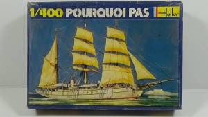"""Pourcoi Pas?"" (061) - коробка из комплекта фирмы ""Heller"", масштаб 1/100, 1980 г."