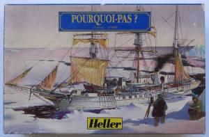 """Pourcoi Pas?"" (79861) - коробка из комплекта фирмы ""Heller"", масштаб 1/100, 1996 г."