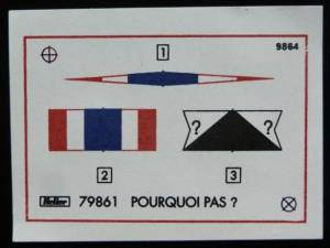 """Pourcoi Pas?"" (79861) - декаль из комплекта фирмы ""Heller"", масштаб 1/100, 1996 г."