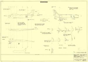 """North-American F-86E """"Sabre"""" - сканированный лист оригинального чертежа FROG"""