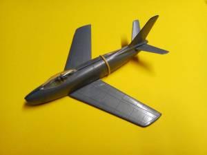 """""""North-American F86-E Sabre"""" - основные детали модели в """"сухой"""" сборке"""