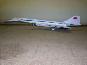 Ту-144 (СССР-68001),  Аэрофлот, Ле-Бурже, 1971 г. - автор модели Владимир Троицкий