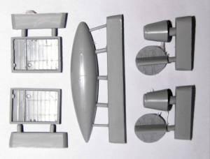 """Комплект дополнительных деталей для модели Gloster """"Meteor"""" F.Mk.4 (FROG)"""