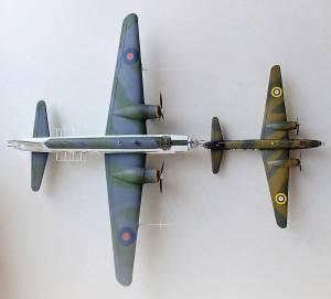 """""""Wellington"""" GR.Mk.VII (доработанная модель фабрики FROG\Ташигрушка, F214, 1/72) и """"Wellington"""" Mk.IC с копией оригинальной декали (FROG, 398P, 1/119)"""