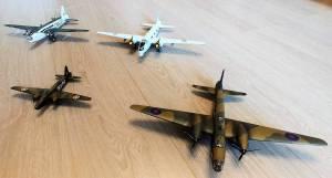 """Wellington"" Mk.IC  (FROG, 398P, 1/119), ""Wellington"" GR.Mk.VII (FROG\Ташигрушка, F214, 1/72),   ""Wellington"" Mk.II (MPM\Revell, 1/72), ""Wellington"" Mk.XIII (Matchbox, 1/72)"