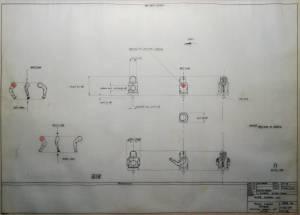 """W.W.II Crew"" - цветная фотография оригинального чертежа FROG"