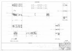 """W.W.II Crew"" - сканированный лист оригинального чертежа FROG"
